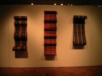 Ikat, Songket Blue, Songket Red (2005) digital prints