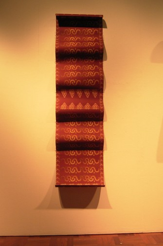 Songket Red (2005) digital image pre-printing