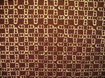 Wallpaper (2006) ring pulls, mat board (detail)