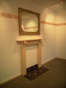 Hearth, Mantel, Mirror (2006) ring pulls, timber, tiles, mirror