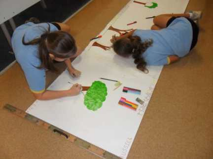 Tully State School Students getting creative.